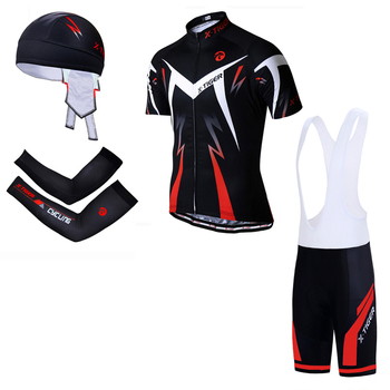 X-tiger big cycling set mtb bike clothing racing bicycle clothes uniform summer cycling jersey sets quick-dry bicycle kits