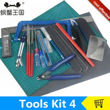diy model tool kit,sand table model making tools,mini saw,cutting mad,knife,screwdriver,stainless steel ruler