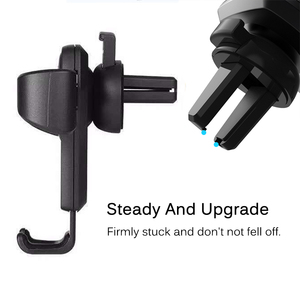 Image 5 - Universal Car Phone Holder Gravity Car Air Vent Mount In Car For iPhone XS X Samsung Xiaomi One hand Operate Phone Stand Bracket