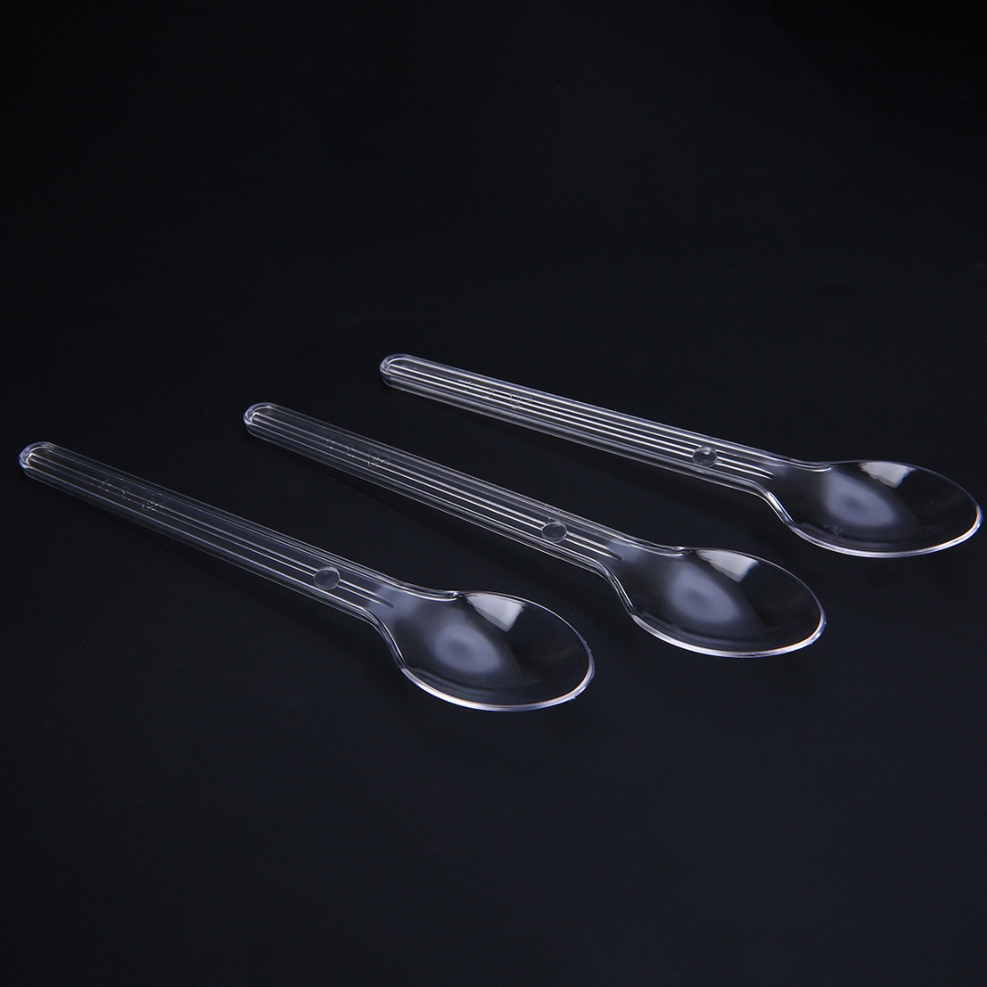 25/50pcs Disposable Spoon Plastic Spoons Dessert Mini Spoon Party Serving Teaspoon Kitchen Gadgets Mayitr