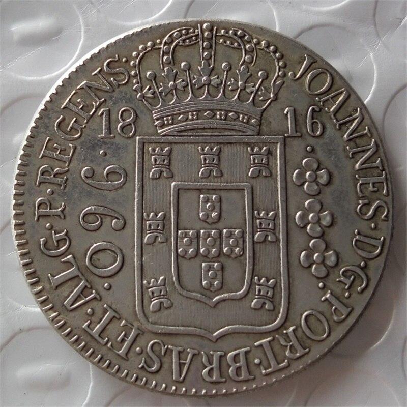 1816 Бразилия 960 Reis копирования монеты