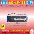 [L252] 3.7V,7000mAH,[6049155] PLIB (polymer lithium ion battery / LG cell ) Li-ion battery for tablet pc,GPS,e-book,speaker