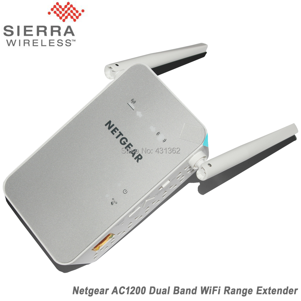 NETGEAR 11AC 1200Mbps Dual Band Gigabit 802.11ac Wi-Fi Range Extender With Two External Antennas wi fi антенна netgear ant2409 20000s