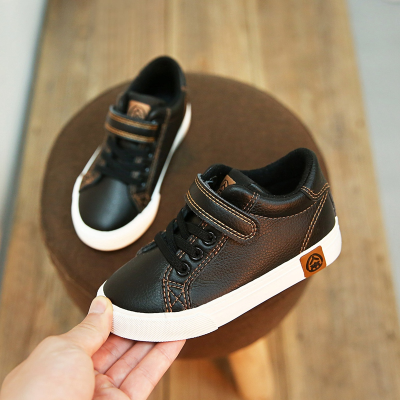 2018 Child Kids Spring And Autumn  Sneaker Fashion Casual Leather Shoes White Colors With Shipping