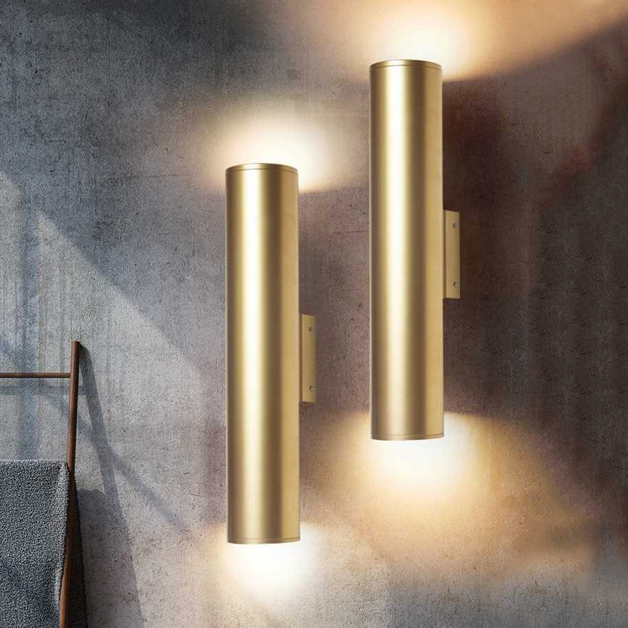 Thrisdar Nordic Golden Cylinder LED Wall Light Bedroom Bedside Wall Lamp Personality Corridor Hotel Restuarant Cafe Wall Light|Wall Lamps| |  - title=