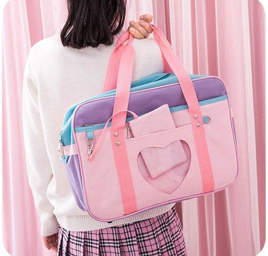 Kawaii Style Pink Travel Shoulder Bag