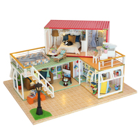 DIY Doll House Container Home Miniature With Furnitures LED Light Building Model Wooden DollHouse Gift YOUR NAME Toys 13841A #E