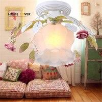 Led פרח אורות תקרת זכוכית לחדר שינה סלון ילדי חדר luminarias para teto תקרת הבית לקשט מנורת תקרה מודרנית