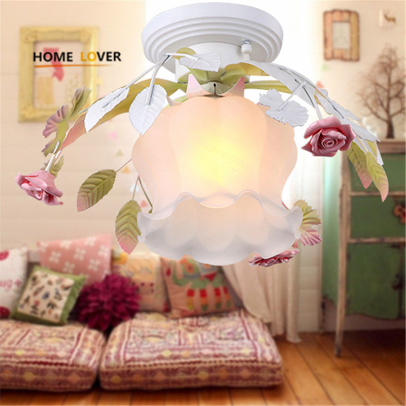 Led Flower Glass ceiling lights for living room Bedroom Kids room luminarias para teto home ceiling decorate modern ceiling lamp led ceiling lights for hallways bedroom kitchen fixtures luminarias para teto black white black ceiling lamp modern