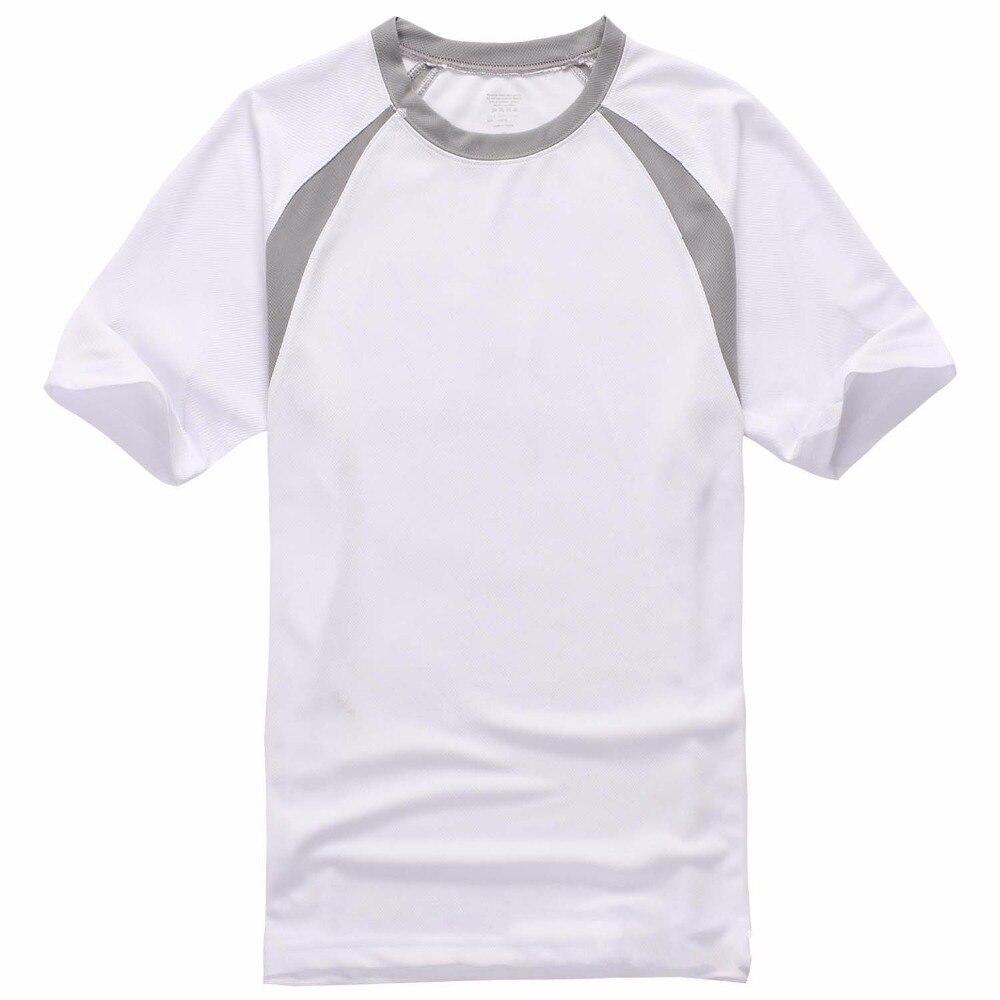 8eee40da5a7ee4 2018 Nowy zewnątrz szybkoschnący fashion t shirt Mężczyźni Splice krótki  rękaw casual wear szybkie suche ubrania szybkoschnące koszule 3XL