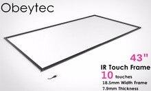 NEUE art 43 zoll Infrarot IR touchscreen IR touch rahmen overlay 10 berührungspunkte Stecker und arbeitet