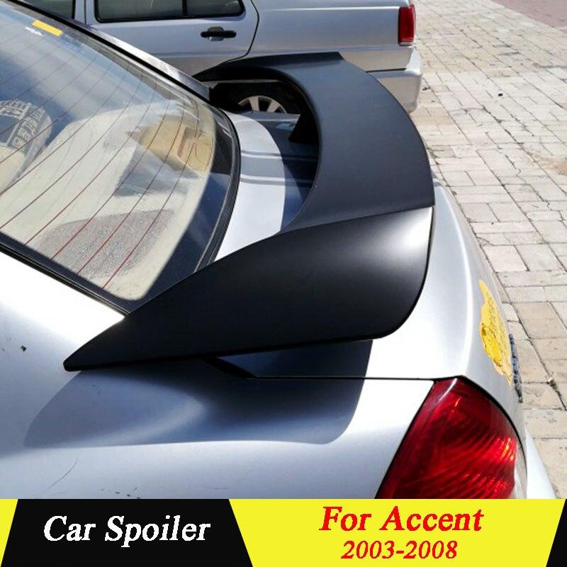 Aileron universel de voiture de berline pour Hyundai ACCENT 2003-2008 ABS matériel non peint apprêt aileron d'aile arrière de coffre