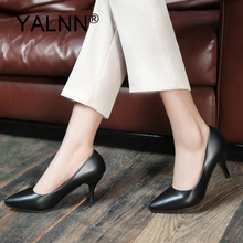 YALNN Fashion New 2019 High Heels Mature Classic Woman Wedding Women Pumps Party Lady Pointed Toe Thin Shoes
