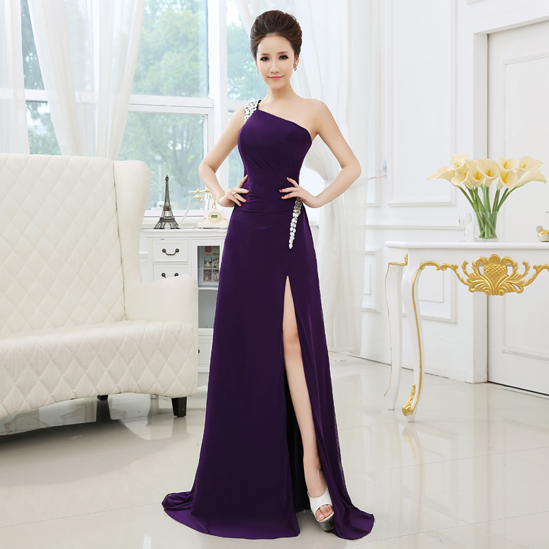 Cheap purple long dresses