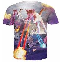 Latest Styles Kitten Invasion T Shirt Kittens Overlords Spreading Fear Destruction Lasers Cat 3D T Shirt