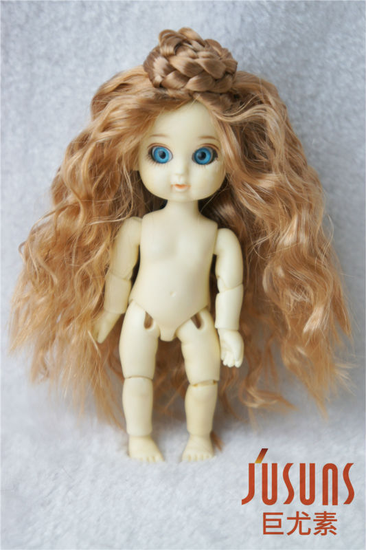 JD097 1/12 Ballet synthetic mohair wig 3-4inch Lati white BJD wig doll accessories