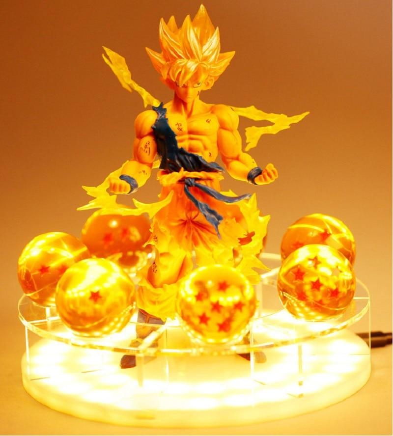 LED Dragon Ball Z Spirit Bomb Table Lamp Son Goku Night Lights Room Table Lamps Luminaria
