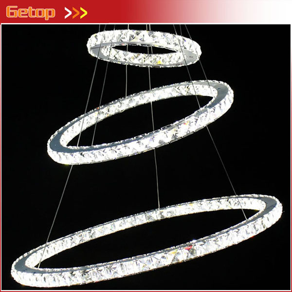Best Price Modern Crystal Chandeliers Circular K9 Crystal Ceiling Lamp LED Lighting Unique Ring Design Random Variation best price rectangular crystal chandeliers k9 crystal ceiling lamp lighting fixtures restaurant led lighting e14 free shipping