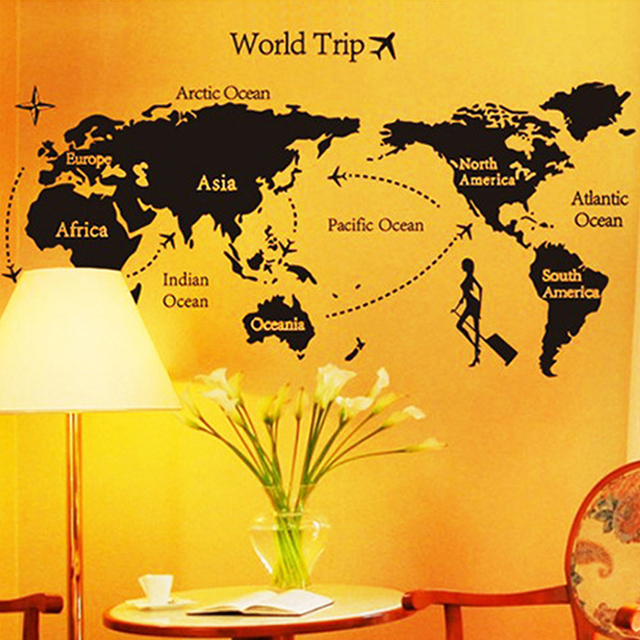 Top 1pc world map personalized vintage travel world map poster top 1pc world map personalized vintage travel world map poster sticker vacation national geographic retro maps gumiabroncs Image collections