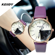 New KEIIDY Top Brand Leather Women Watches Ladies Fashion Casual Dress Quartz Watch Female Gift Clock Montre Femme Relojes Mujer цена