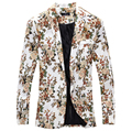 Novo design de moda masculina casaco flor individualidade lazer casaco, Jaqueta, Casaco frete grátis de peso