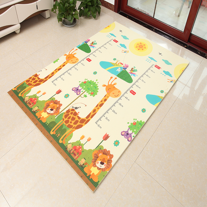 Infant Shining 6pcs XPE Baby Play Mat Children Bedroom Carpet 120*180*2CM Thickening Eco-Friendly Split Joint Rug (Each 60x60CM)