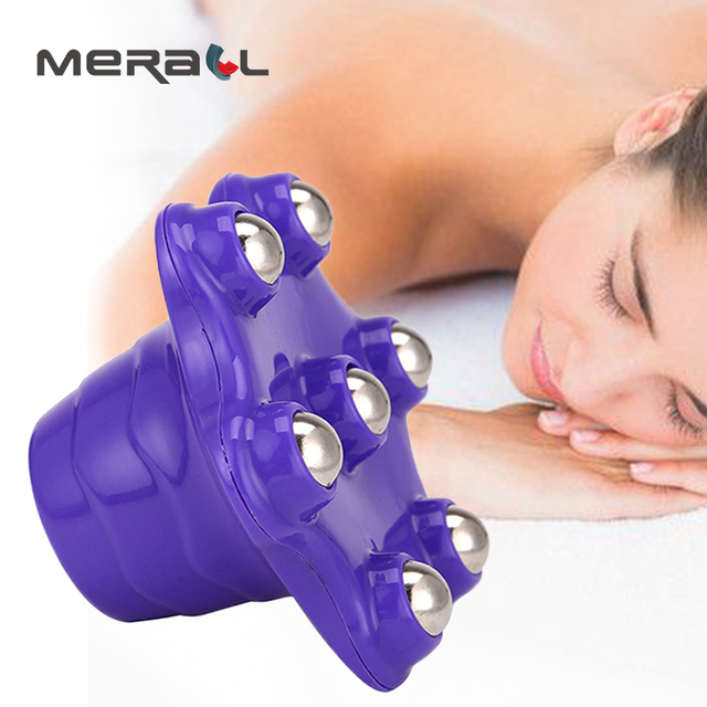 Hot Sale Roller Ball Body Massage Convinence Anti-Cellulite Muscle Pain Relief Relax Massager For Neck Back Shoulder Buttocks