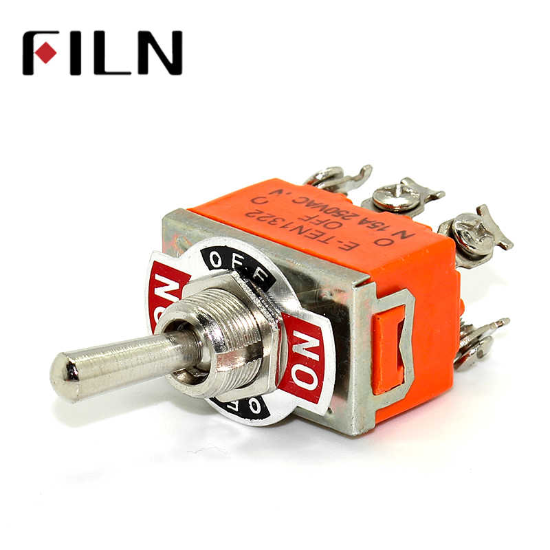 15A 250 V KN3C E-TEN 1322 toggle switch 6 pin 3 เกรดสวิทช์ double pole double throw สลับ