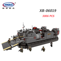 MEOA 3006Pcs XINGBAO 06019 Military Building Blocks Transport Ship Educational Bricks Duplo Kids Toys For Children Boys As Gifts