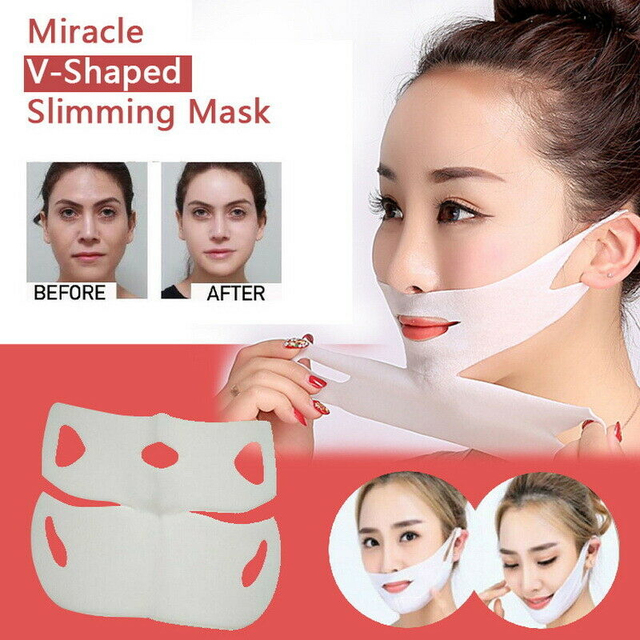 Miracle V-Shaped Lifting Neck Mask Eliminate Edema Firming Thin Slimming Facial Peel-off Mask Silicone Mask Skin Care TSLM1 1