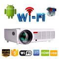 Led 96 5500 lúmenes Android 4.4 1080 P wifi llevó el proyector completo 3d hd de cine en casa lcd TV video proyector projektor projetor beamer