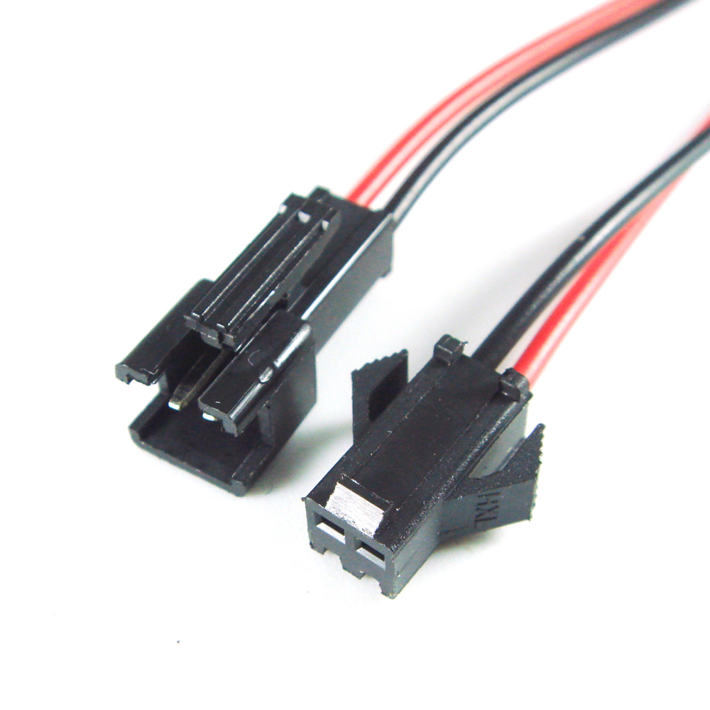 2 Pin Stecker Buchse Stecker mit Drähte Kabel für Led streifen Lampe ...