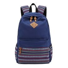Мода Холст Случайный Женщины Рюкзак Мешок Школы Студенты Девушка Корея Дизайн Back Pack Женский Путешествия Bagpack Школьный 7 Цвета