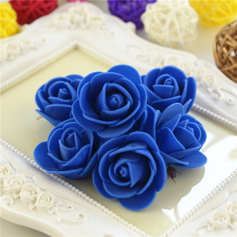 50pcs/Bag Multicolor Mini Rose Head Artificial Flowers For Wedding And Festival Party 17