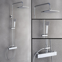 Europe and United States all copper four large shower set temperature 38 anti scald safety thermostatic bath shower
