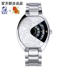 GINTAMA Metal Watch PU Leather Stainless Steel Strap Comics Character Gitoki Takasugi Anime Watch For Men Gift