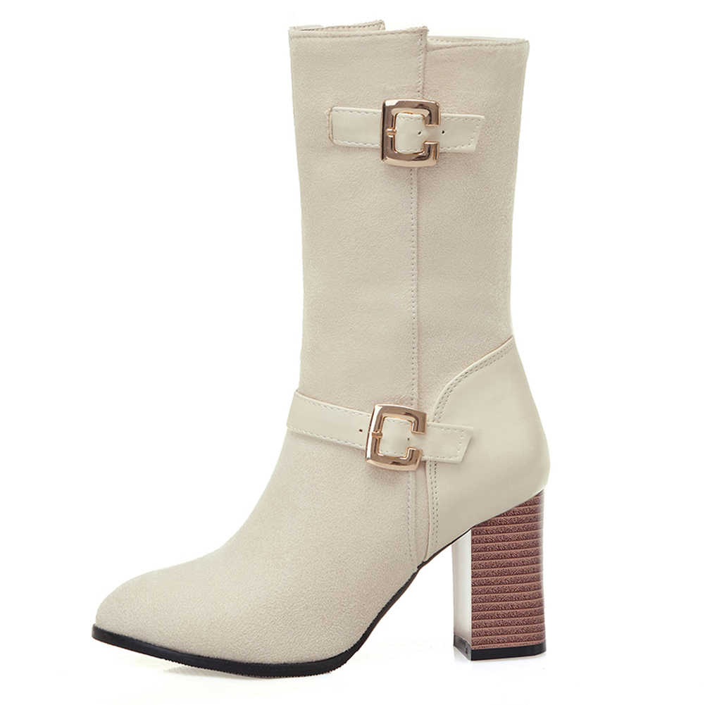 Doratasia אופנה גבירותיי גבוהה עקבים Med עגל מגפי סתיו חורף מגפי אישה נעליים באיכות גבוהה נשים גדול גודל 33- 50