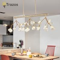 Современные подвесные светильники для столовой Кухни бара гостиной AC85 265V Розовый золотой и черной стальной подвесной светильник LED Люстра