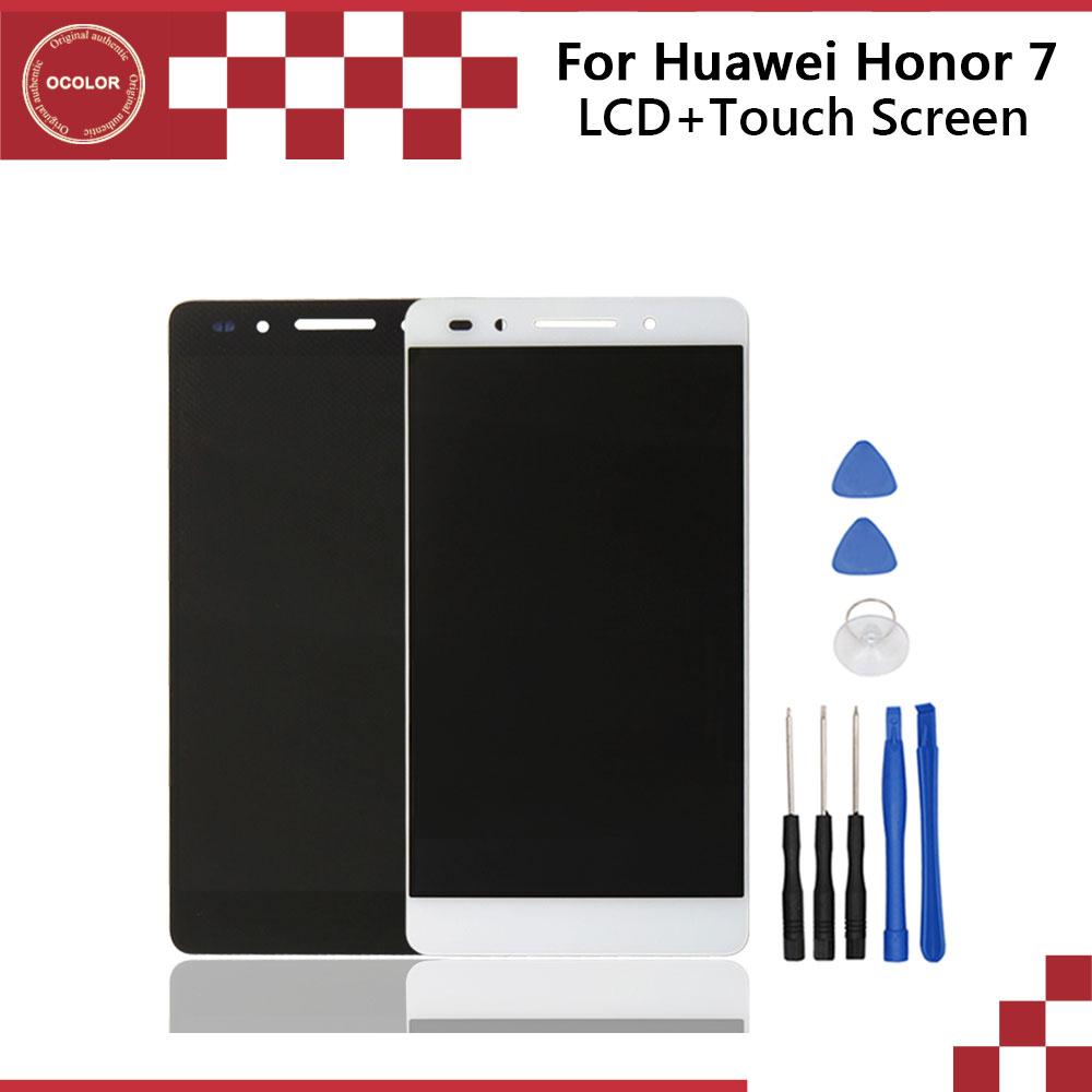Prix pour 100% D'origine Pour Huawei Honor 7 LCD Écran LCD de Remplacement affichage et Écran Tactile Pour Huawei Honor 7 Smartphone Livraison gratuite