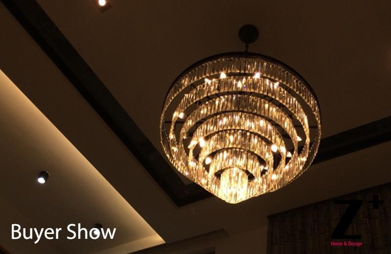 Replica Grand Crystal Chandelier Diam 100cm 1920s Odeon Clear Glass Fringe 7 Tier Vintage K9 Re In Chandeliers From Lights