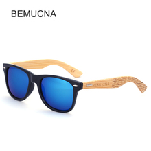 2017 New BEMUCNA Wood Sunglasses PC Frame Handmade Bamboo Sunglasses Wooden Sun glasses for Women Oculos de sol masculino