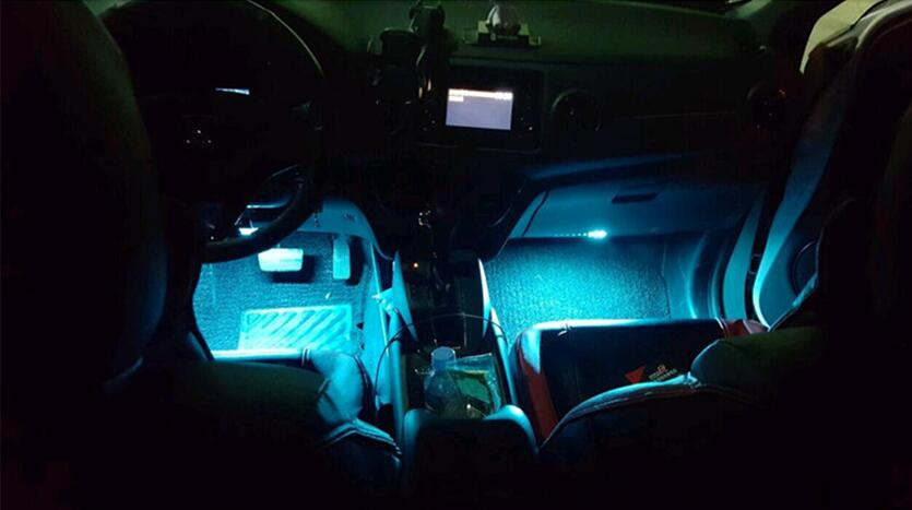 Car interior. LED dimming lamp accessories. for Chrysler 200 300C 300m remote null for BMW KIA AUDI TOYOTA sticker styling