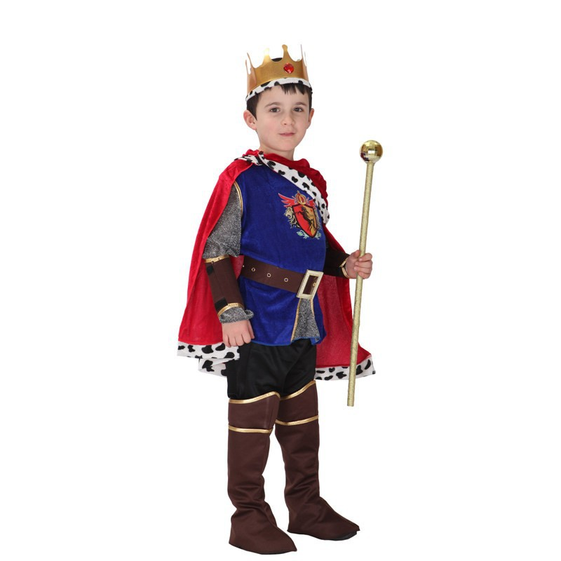 Selegere 13pcs Halloween Cosplay kids Prince Costume for Children The King Costumes Children's Day Boys Fantasia Cosplay Cloak