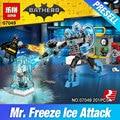 Lepin 07049 Nuevo 201 Unids Genuino Serie de Películas de Batman La Congelación de Hielo Ataque Conjunto de 70901 Bloques de Construcción Ladrillos de Juguetes Educativos