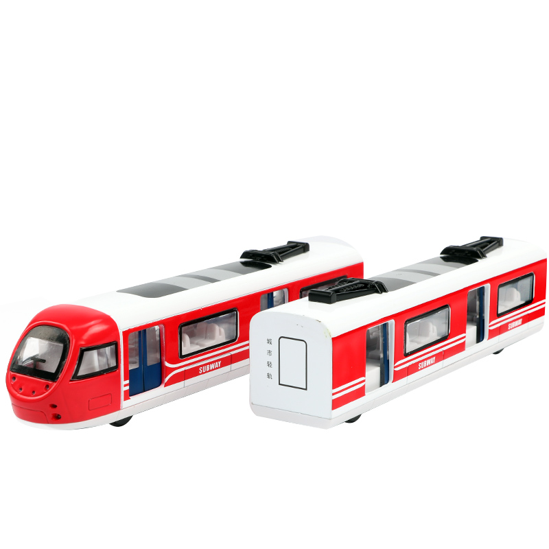 1 Set Alloy Simulation Model Train Toy Magnetic Connection of Two Carriages Retro Steam Gas Train