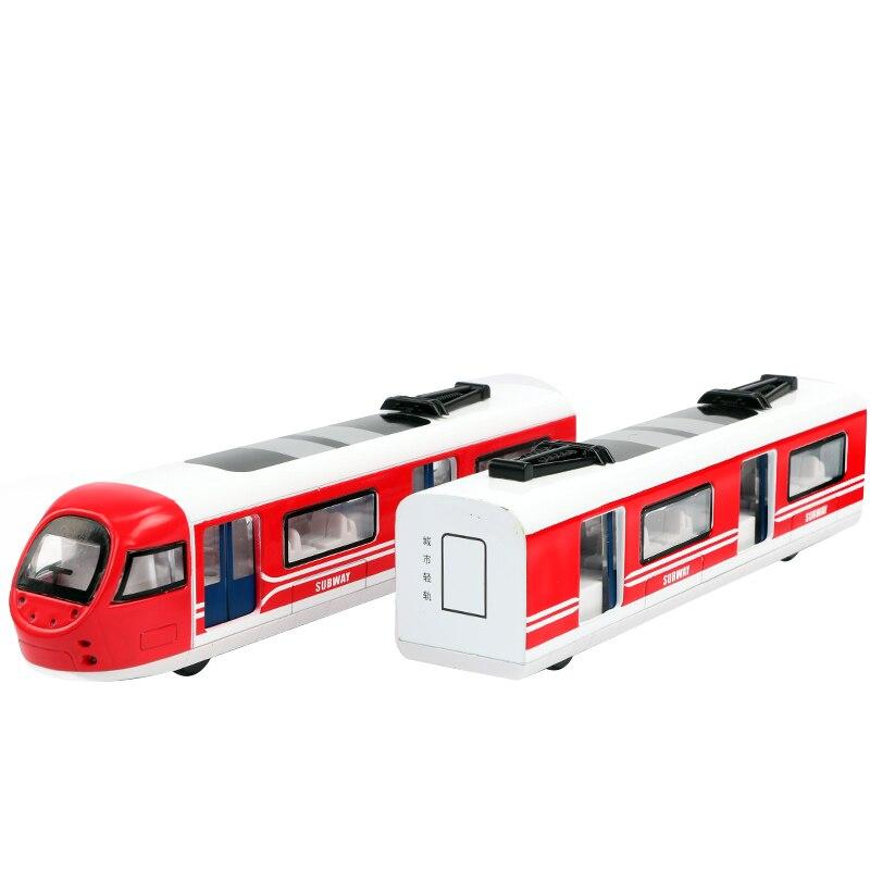 1 Set modèle de Simulation en alliage Train jouet connexion magnétique de deux chariots rétro Train à vapeur et à gaz métro Rail à grande vitesse Jsuny