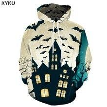 KYKU 3d Hoodies Halloween Sweatshirts men Bat Hooded Casual Animal Hoodie Print Harajuku Hoody Anime Party Printed Unisex