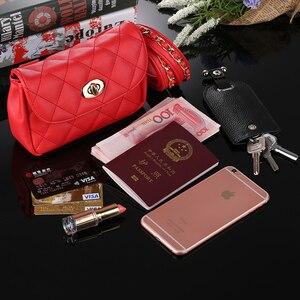 Image 4 - Модная Кожаная поясная сумка Mihaivina для женщин, забавная нагрудная Сумочка, Женский клетчатый поясной кошелек, дорожный мешочек для денег и телефона