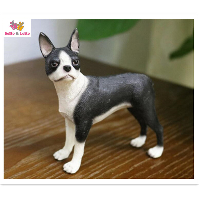 cool boston terrier dog model craftartificial puppyhome office car decorationparty - Boston Terrier Outdoor Christmas Decoration