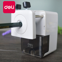 Deli 1PCS Metal pencil sharpeners Basic Type Office Hand Crank Pencil Cutting Machine 2 Colors White Black Sharpener